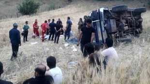 مرگ 3 گردشگر تهرانی در واژگونی خودرو بلیزر در رودبار