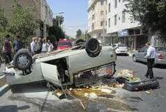 واژگونی خودرو کلاهبردار حرفه ای را زمین گیر کرد