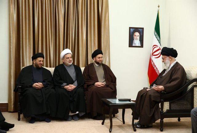 رئیس مجلس اعلای اسلامی عراق با رهبرانقلاب دیدار کرد