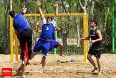 تیم هندبال ساحلی عمان وارد اصفهان شد