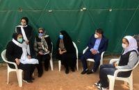 بازدید فرهادیزاد از اردوی تیم ملی تنیس بانوان