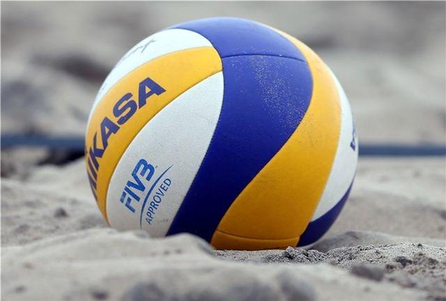 چهار تیم برتر نوجوانان والیبال ساحلی قهرمانی کشور مشخص شدند