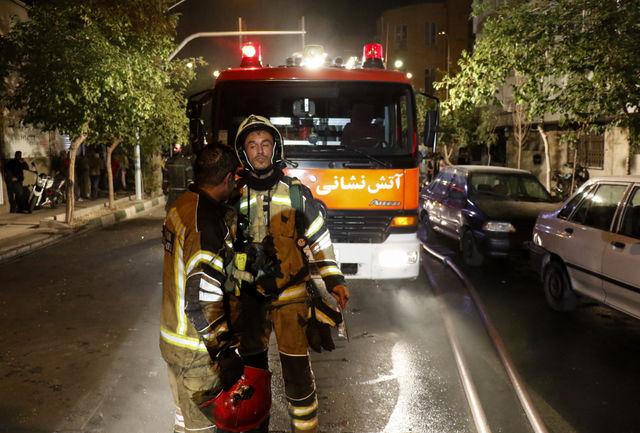 آتش سوزی کلینیک مکانیکی خودرو در تبریز