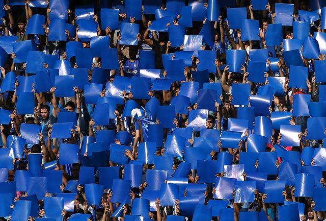 طرح موزاییکی هواداران استقلال برای حیدری