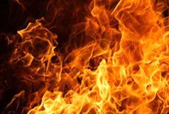 آتش سوزی گسترده در مرکز تهران
