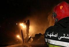 آتش سوزی مغازه پوشاک بدون تلفات جانی اطفا شد