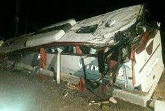 علت واژگونی اتوبوس زائران عراقی در دست بررسی است/ 39 نفر از 45 سرنشین مصدوم شدند+ببینید
