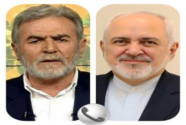 ظریف با دبیر کل جنبش  جهاد اسلامی گفتگو کرد