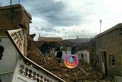 تخریب کامل یک منزل مسکونی در بیرجند