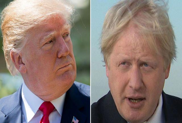 دام ترامپ برای جانسون/ گفتگوی تلفنی رییس جمهور آمریکا و نخست وزیر انگلیس