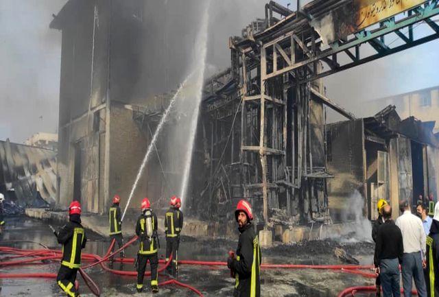 ۶ مصدوم در حادثه آتش سوزی شهرک شکوهیه قم