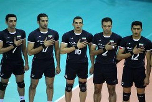 مچ بند سیاه مردان والیبال ایران در حمایت از مردم غزه