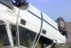 3 زخمی در واژگونی سواری پراید در محور قاین _ گناباد