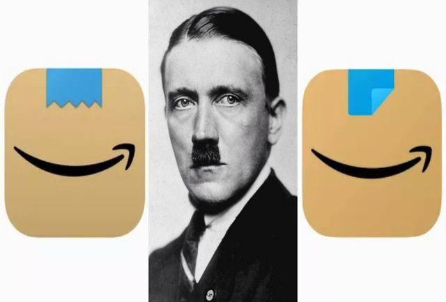 تغییر آیکن اپلیکیشن آمازون به خاطر شباهت با سبیل هیتلر+ عکس