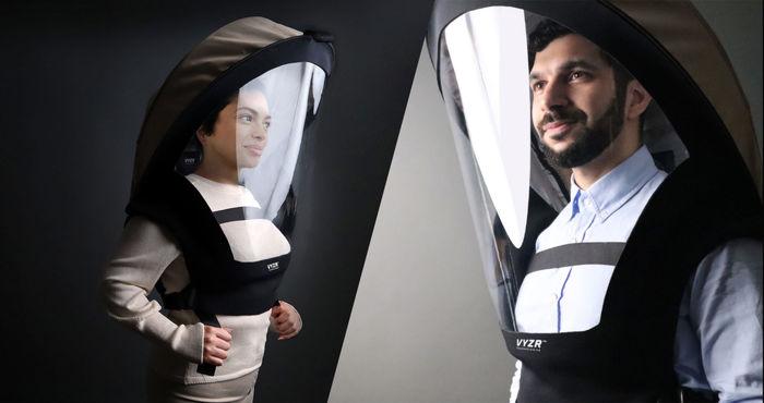 ماسکی شبیه لباس فضانوردی برای مقابله با کرونا