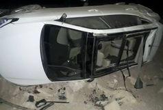واژگونی خودرو لوکس خارجی حادثه ساز شد