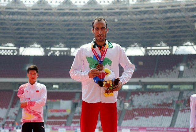 احمد اجاقلو به دومین نشان برنز در ماده دوی صد متر دست یافت