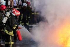۱۱ مصدوم بر اثر آتش سوزی یک مدرسه در همدان