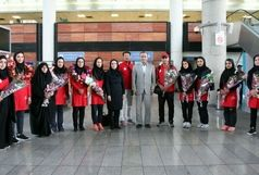 مراسم استقبال از تیم ملی تیراندازی با کمان برگزار شد