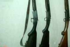 کشف وضبط سه قبضه سلاح شکاری در منطقه زبران اشکورات رودسر