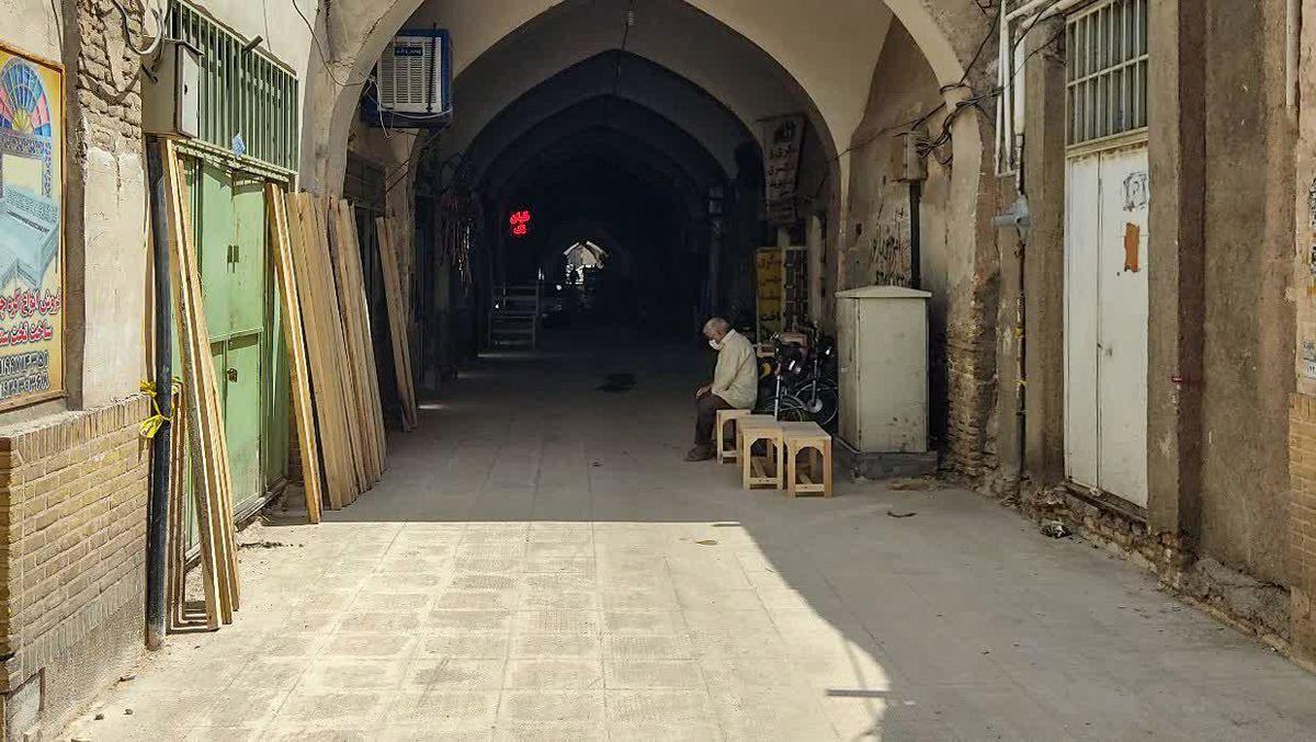 بهسازی محور تاریخی بازار کهنه قم/خودنمایی بازار با رنگ و لعاب سنگها