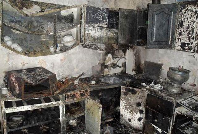 انفجار مهیب گاز در یک واحد آپارتمان مسکونی در نهاوند