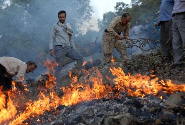 آتش سوزی  جنگل های  کلاله استان گلستان مهار شد