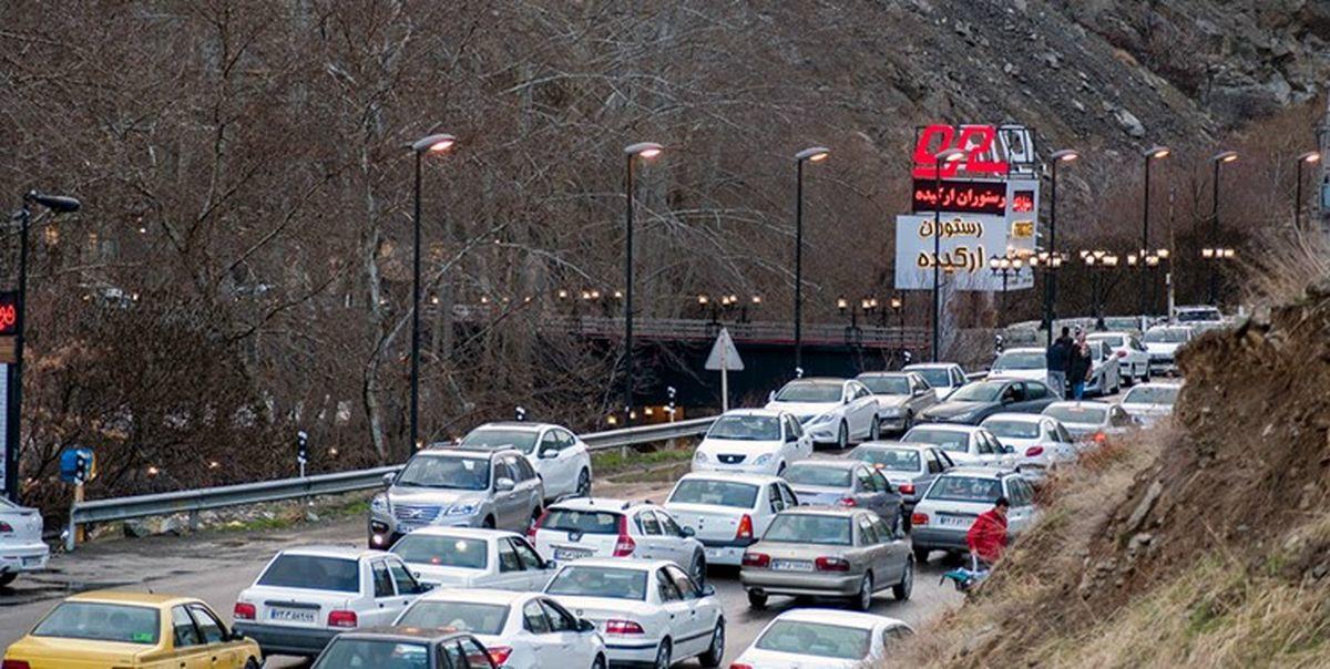 ترافیک در جاده کندوان