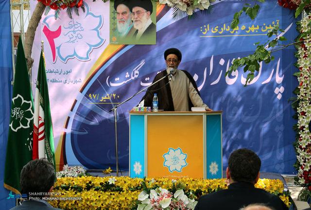 همت شهرداری تبریز در احداث پارک ها قابل تقدیر است