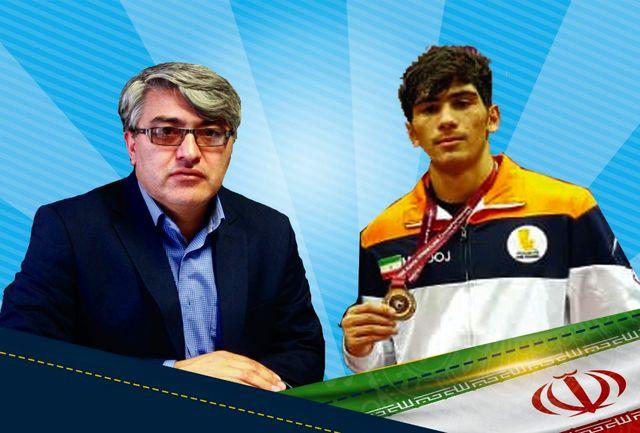 مدیرکل ورزش و جوانان استان اردبیل قهرمانی بهرام معروفخانی را تبریک گفت