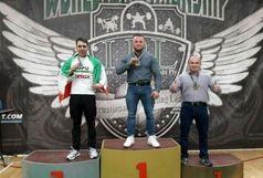 نایب قهرمانی یک پلدختری در مسابقات جهانی پاورلیفتینگ روسیه