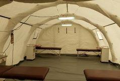 بیمارستان صحرایی در قزوین برپا شد